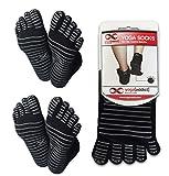 Best Yoga Socks - YogaAddict Yoga Pilates Full Toe Socks, 2 Pairs Review