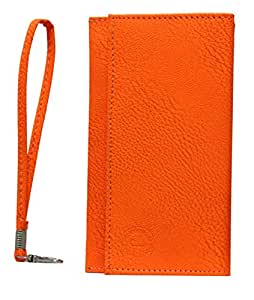 Jo Jo A5 G8 Leather Wallet Universal Pouch Cover Case For Acer Iconia Smart Orange