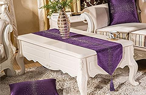 XXFFH Table Runners Flat Cashmere Luxury Hot Drilling Table Flag