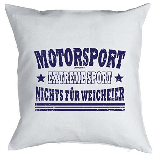Sport Deko Kissen ::: MOTORSPORT ::: Weiss