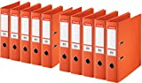 Esselte PlastikOrdner Standard, DIN A4, 75 mm, sortiert, 10er Pack (A4, orange)