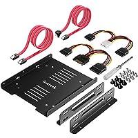"""Inateck–2x 2,5""""HDD/SSD a 3,5Disco Duro Juego de Instalación de Marco Interno, Soporte, Marco, Incluye 2x SATA Cable de Datos y 2x Cable de Corriente (st1004)"""