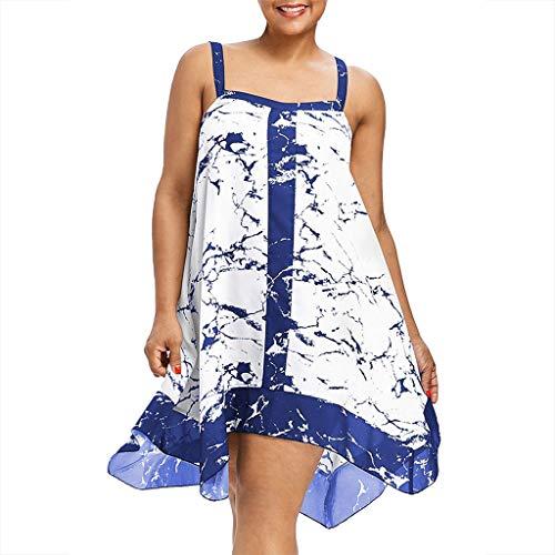Italien, Kleid, Hose (Clacce Damen Sommerkleider Blumen Maxi Kleid Ärmellos Abendkleid Strandkleid Party Chiffon Lange Kleid)