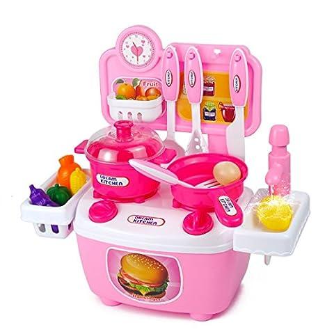 lebensmittel Kinderküche, iTECHOR 20Stück Pretend Küche Spielzeug Ware Set Plastik Kochen Geschirr Essen Kinder (Küche Pretend Spielset)