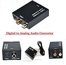 Generic Coaxial Spdif or Toslink Optical Digital to Analog L/R RCA Audio Converter Adapter Support 5.1 Channel Stereo Dolby AC3/DTS