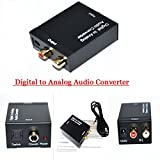 #9: Generic Coaxial Spdif or Toslink Optical Digital to Analog L/R RCA Audio Converter Adapter Support 5.1 Channel Stereo Dolby AC3/DTS