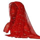 Laile Damen Sturmhauben Tücher für Tanzparty Reizvolles Glitzer Mütze Haube Unifarbe klassischer Schal Schicke Indien-Hut Kopfbedeckung Hat Einfaches Mützen Wrap Cap