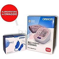 Omron M2 IntelliSense – Medidor de presión digital de brazo + Fuente de alimentación ...