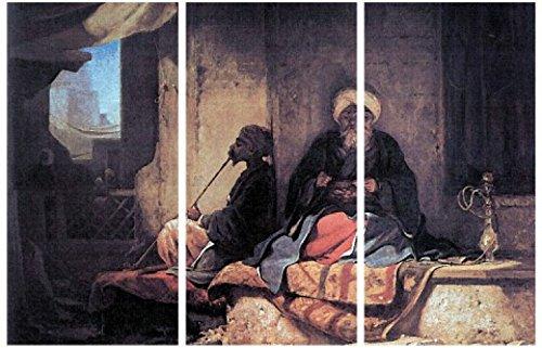 1art1 57530 Carl Spitzweg - Im Türkischen Basar, 1860, 3-Teilig Poster Leinwandbild Auf Keilrahmen 180 x 120 cm