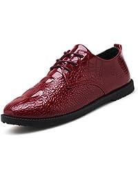 IKON hommes Chaussures richelieu cuir - Noisette foncé Cambridge - Brun Clair, UK 7 = EUR 41