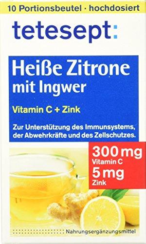 Vitamin C Zitrone (Tetesept Heisse Zitrone mit Ingwer, 10 Beutel, 1er Pack)