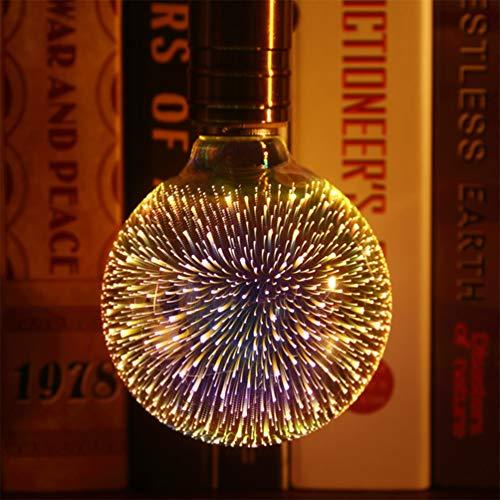 Uonlytech Led blendende glühbirnen langlebig feuerwerk design glühbirne dekorative glühbirne für weihnachten zu hause schlafzimmer bar shop halle hotel (3 stücke)