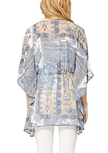 s.Oliver Premium 11.504.19.4550 - Blouse - Femme Multicolore - Mehrfarbig (blue 52A4)
