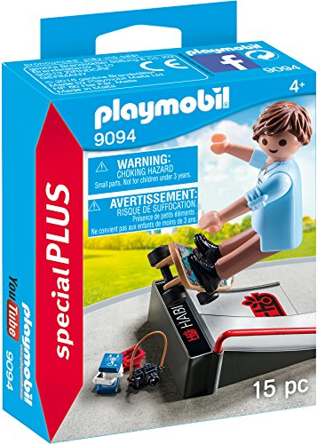 Playmobil Especiales Plus- Skater con Rampa, (9094)