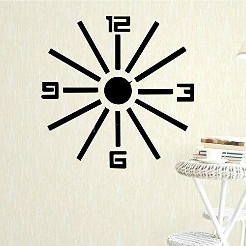 SLQUIET Uhr Muster Wandkunst Applique Wandkunst Aufkleber Wandhauptdekoration Zubehör Wohnzimmer Vinyl Wasserdichte Wandkunst Aufkleber Wandaufkleber Haus Und Garten GELB XL 58 cm X 58 cm