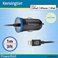 Kensington 2.4 A/12 W Rapid in caricabatteria da auto MFi per Apple dispositivi tra cui iPhone 5, (Kensington 12 Luce)