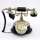 ZfgG Europäische Vintage Telefon Swivel Platte Wählscheibe Telefon Antike Telefone Festnetztelefon Für Büro Home Hotel