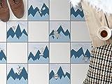 creatisto Küchen-Bodenfolie, Badezimmerfliesen | Fliesenfolie Sticker Aufkleber Bad Küche Balkon Küchen-Deko | 30x30 cm Design Motiv Bergoboter - 9 Stück