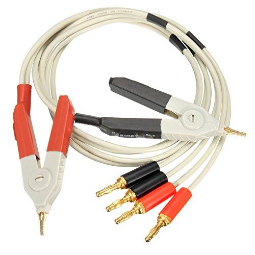 Bananen Stecker Clips Kabel, Gordan LCR-Messgerät Niedriger Widerstand führt Banana Plug Clip Kabel für Terminal Kelvin Test