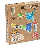 Re Cycle Me DEFG1050 Recycling Bastelspaß für 5 Modelle, Bastelset für 5 Kunstprojekte, Kreativset für Kinder ab 4 Jahre, Set zum Basteln mit Haushaltsmaterialien, Recycle Mich, Bastelmix