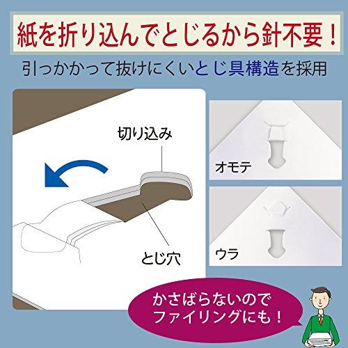Kokuyo SLN-MSH110G Harinacs Japanischer Hefter, der ohne Klammern funktioniert, Grün, bis zu 10 Blätter zugleich heften - 3