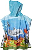 CRIVIT® Kinder Strandponcho mit Kapuze, Delfin (ca. B 58 x L 60 cm)