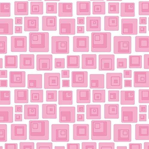 Apple iPhone SE Case Skin Sticker aus Vinyl-Folie Aufkleber Quadrat Retro Rosa DesignSkins® glänzend