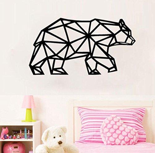 Madaye Geschnitzt geometrisch Eisbär Kunst Wohnzimmer Schlafzimmer Dekoration Wand-Aufkleber