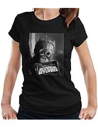 Mirrorpix Apparel Orangutan Reading Horror Stories 1974 Women's T-Shirt