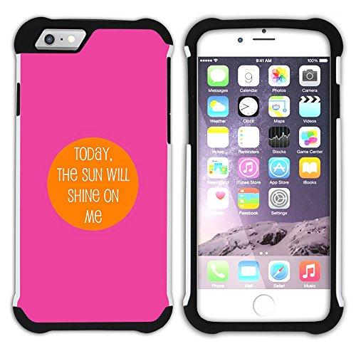 """Graphic4You """"Expect Nothing..."""" Life Proverb Zitat Design Hart + Weiche Kratzfeste Hülle Case Schale Tasche Schutzhülle für Apple iPhone 6 Plus / 6S Plus Design #4"""