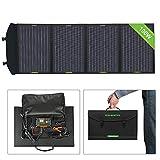 ECO-WORTHY Chargeur solaire portable et pliable avec contrôleur de charge avec double USB DC pour...