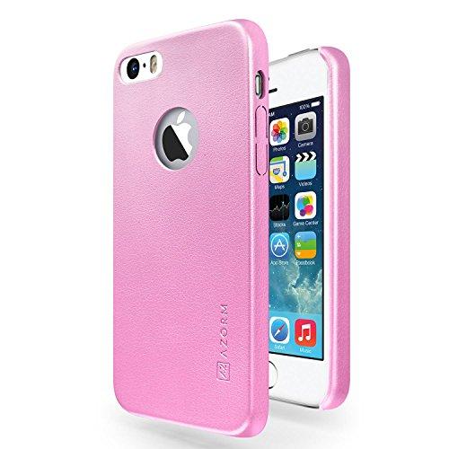 funda-iphone-se-5s-5-azorm-classic-edition-rosa-fina-aspecto-de-cuero-premium-interior-de-microfibra
