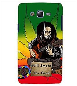 PrintDhaba SMOKE LOVERS D-6638 Back Case Cover for SAMSUNG GALAXY J7 (Multi-Coloured)