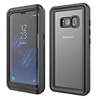 Galaxy S8 Waterproof Case, FugouSell Water Resistant Dust/Dirt/Snow Proof Full-body Military Rugged Heavy Duty Protection Bumper Shell Case Cover for Samsung Galaxy S8 5.8 inch - Black