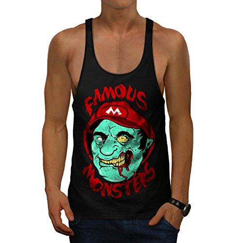 Mario Monster Tot Zombie Super Luigi Herren M Gym Muskelshirt | (Super Mario Kostüm Tot)