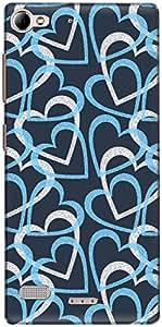 The Racoon Lean printed designer hard back mobile phone case cover for Lenovo Vibe X2. (Blue Heart)
