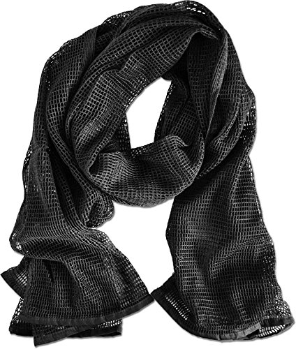 Netzschal zur Tarnung 190 x 90 cm Farbe Schwarz