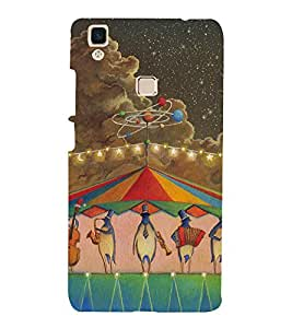 penguin Music Colour 3D Hard Polycarbonate Designer Back Case Cover for vivo V3Max