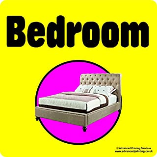 Advanced Printing Dementia Friendly Self-adhesive Bedroom sticker sign for Alzheimers and Partially Sighted (Large 220x220 mm)