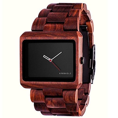 Kerbholz Herren-Armbanduhr Reineke Analog Quarz Holz 0705184599530
