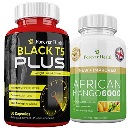 T5Nero PLUS + Africano Mango African Mango Forti Pillole Dimagranti
