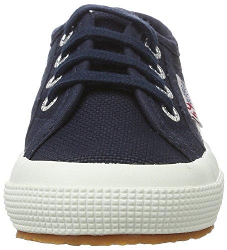 Superga Unisex-Kinder 2750 Jcot Classic Sneaker Blau (Navy-White)