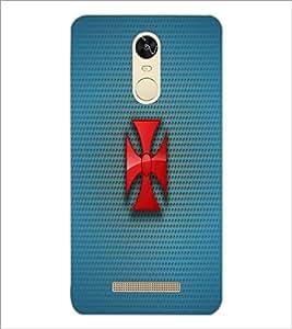 PrintDhaba Cross D-1777 Back Case Cover for XIAOMI REDMI NOTE 3 PRO (Multi-Coloured)