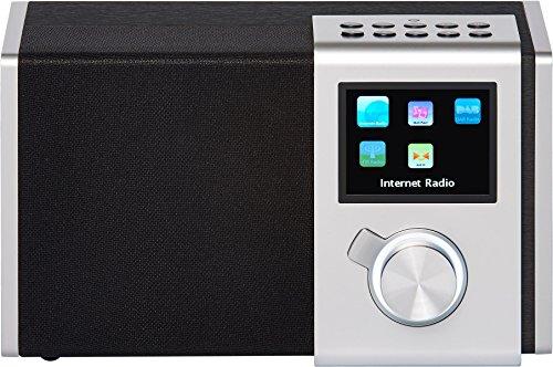 """NOXON 15200 NOVA M Internet-/DAB+ Radio (WLAN,LAN,DAB,DAB+,UKW, 8,13cm (3,2"""") TFT Farb Display, Fernbedienung, USB-,Line-In,Line-Out,Kopfhörer-Anschluss, Weck-Schlummer Funktion, kostenlose App) silber"""