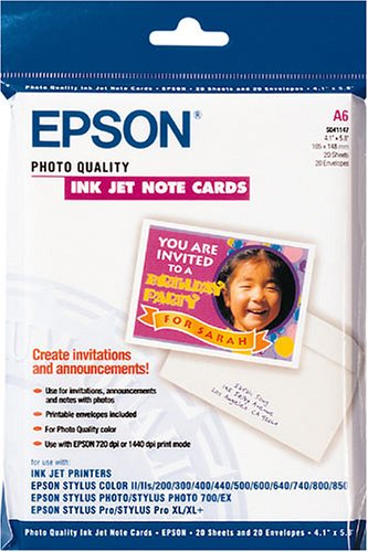 Epson Photo Quality Ink Jet Karten mit Umschlag Nr. S041147 (A6 / 20 Blatt)