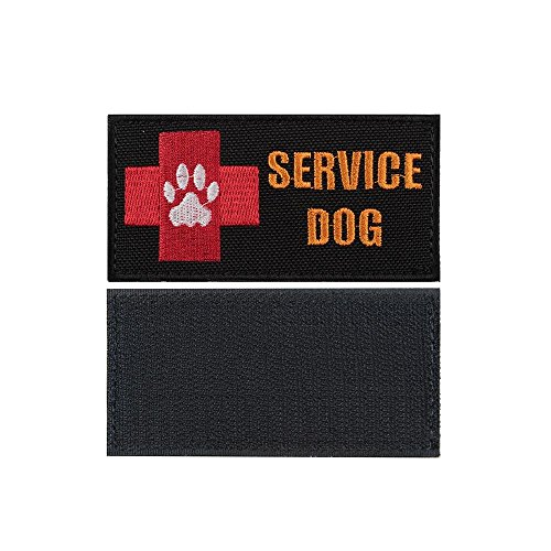 yisibo-tactical-patches-2-pieces-velcro-brodere-morale-military-patch-sur-service-dog-croix-rouge-pu