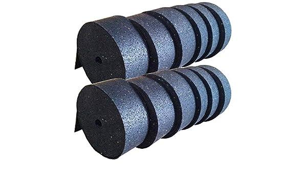 5.000 x 80 x 3mm Gummigranulat Rollen Streifen Terrassen Pads Stelzlager