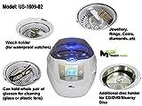 Mugen Power-Professional Grade 750ml Ultraschallreiniger-mit Digitaluhr, Kunststoffkorb mit Uhrenhalter und zusätzlichem Kunststoffhalter für CD / DVD / BlueRay Disc