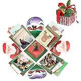 EKKONG Explosion Box, Christmas Explosion Box Creativo DIY Álbum de Fotos Scrapbook Caja Regalo para Cumpleaños Día de San Valentín Aniversario Navidad (Christmas)