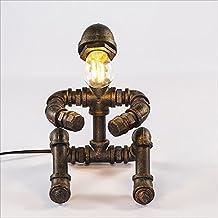 LILY Lámpara de mesa retra del agua del estilo industrial del desván del robot, estudio creativo de la lámpara de mesa de la barra del café